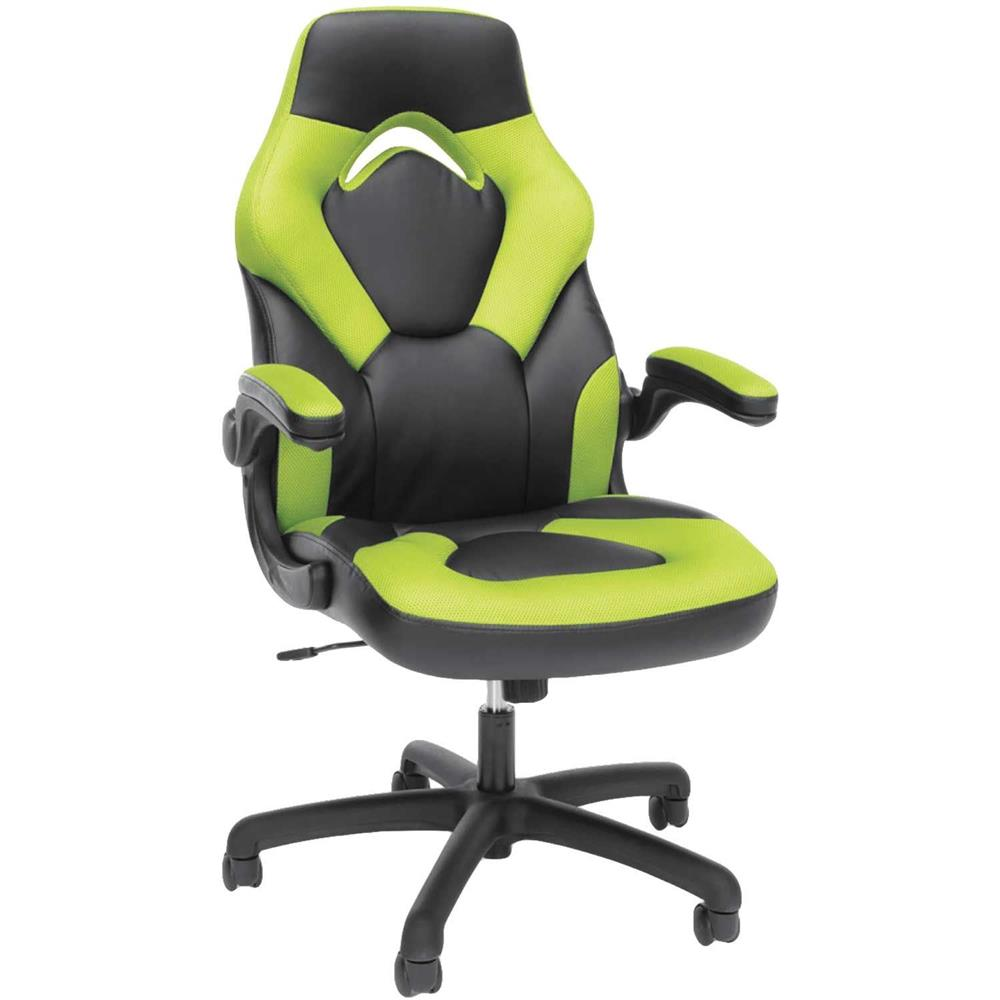 GREEN HIGH-BACK GAMING CHAIR